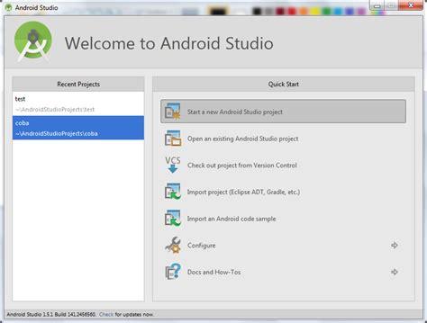 tutorial membuat android studio membuat form login android studio memulai project baru