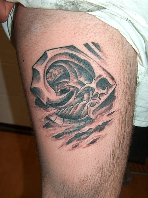 small thigh tattoo biomechanical tattoos and designs page 33