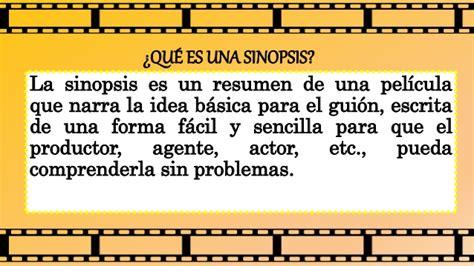 Or Sinopsis C 243 Mo Escribir Una Sinopsis Para Cine