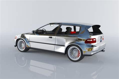 all honda civic hatchback models honda civic 1992 hatchback 3d model max
