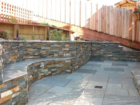 stone patio bench design patio designs