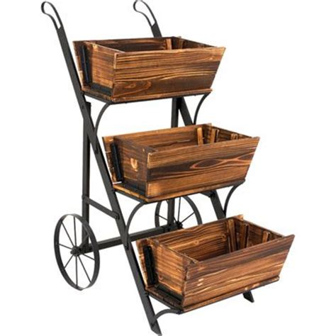 Wooden Cart Planter by The World S Catalog Of Ideas