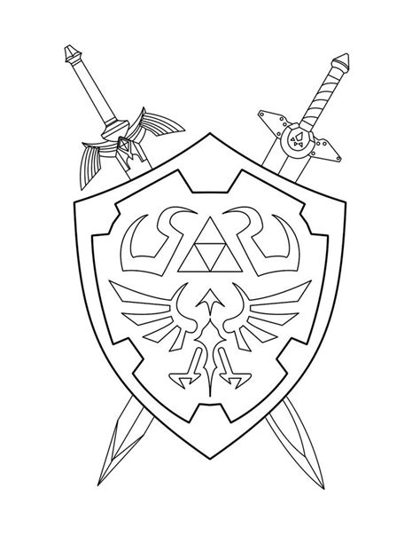 zelda triforce coloring page drawn sword zelda pencil and in color drawn sword zelda