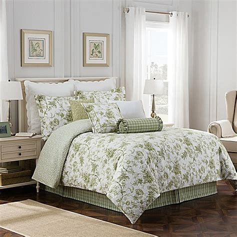 Bed Bath And Beyond Williamsburg by Williamsburg Burwell Reversible Comforter Set Bed Bath