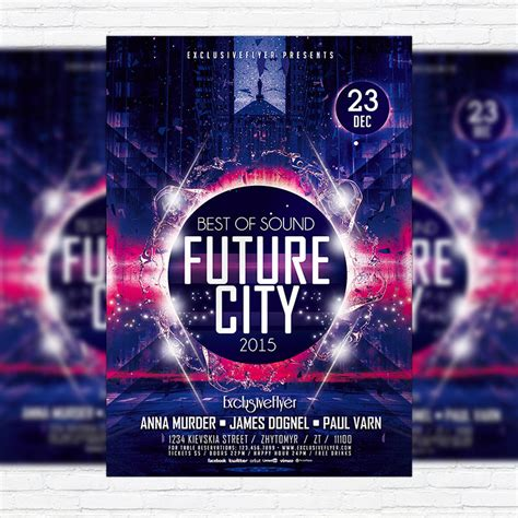 future city premium psd flyer template exclsiveflyer