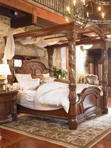 villa valencia canopy bedroom set  aico  coleman furniture