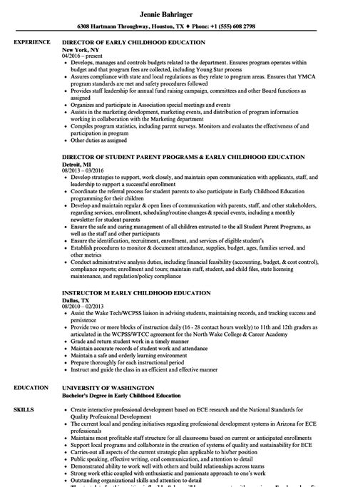 early childhood education resume samples sample resumes example