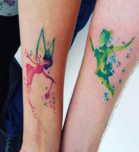 watercolor tattoo for couples cool couple animation tattoo for husband and wife