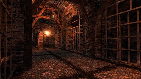 dungeon si鑒e 3d model dungeon vr ar low poly obj 3ds fbx