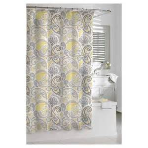 Target Shower Curtains For kassatex paisley shower curtain yellow grey target