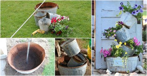 how to turn rustic containers into tipsy vertical garden