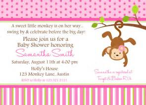monkey baby shower printable invitation by lollipopink on etsy