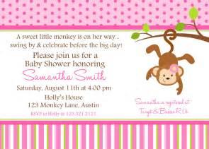 free monkey baby shower invitation templates monkey baby shower printable invitation by lollipopink on etsy