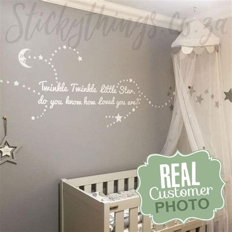 twinkle twinkle wall stickers twinkle wall decal twinkle quote wall decal