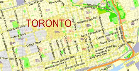 printable maps toronto city map toronto vector urban plan adobe illustrator