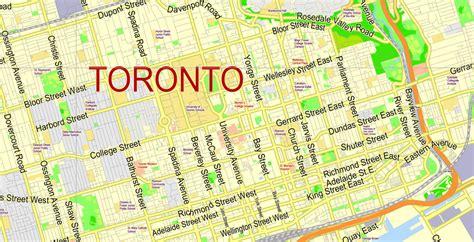 toronto canada map toronto map pdf ttc system maps transit toronto content