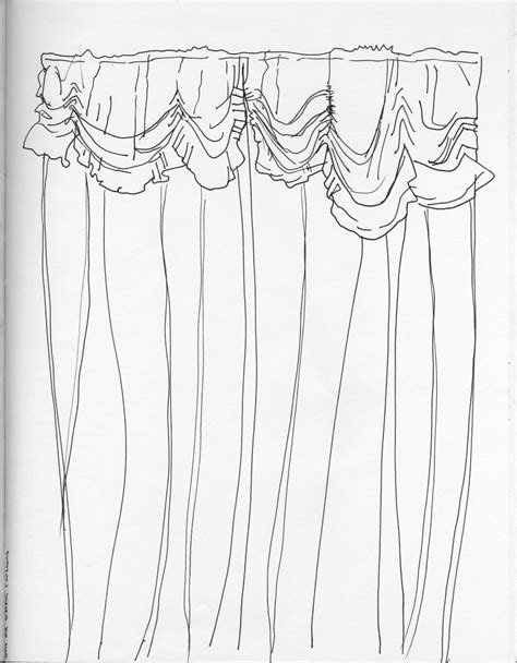 curtain drawing coloring pages open curtains drawing sketch coloring page