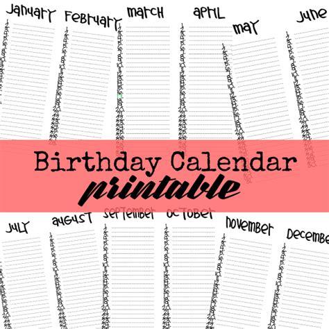 how to make a birthday calendar printable birthday calendar u create