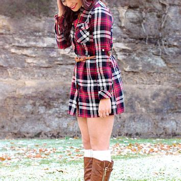 Draped In Plaid by Draped In Plaid Dress