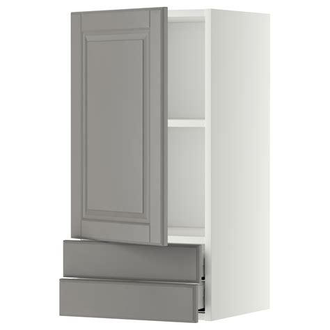 kitchen wall cabinets with drawers metod maximera wall cabinet with door 2 drawers white