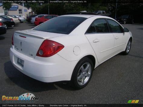 2007 pontiac g6 v6 2007 pontiac g6 v6 sedan ivory white photo 5