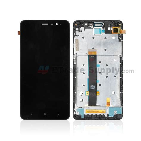 Lcd Xiaomi Redmi Note 3 Fullset xiaomi redmi note 3 lcd screen and digitizer assembly with front housing black without logo