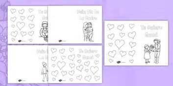 mothers day card publisher template tarjeta para colorear el d 237 a de la madre s day card