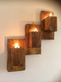 Pallet Patio Pallet Wall Mounted Candle Holders