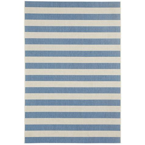 neutral blue neutral striped indoor outdoor rug shades of light