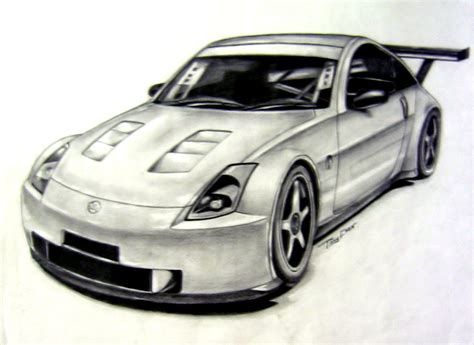 nissan 350z drawing 350z sketch by tony chen by tonywck on deviantart