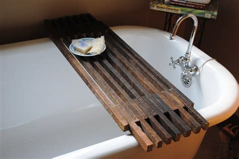 Bathtub Wood Caddy | bathtub caddy shelf by peppysis on etsy