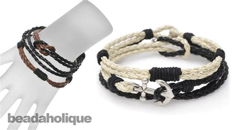 Faux Leather Bracelet for the braided faux leather bracelet trio