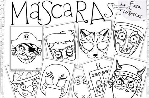 dibujos para colorear de halloween calabazas mascaras carnaval ninos dibujos de m 225 scaras para colorear manualidades infantiles