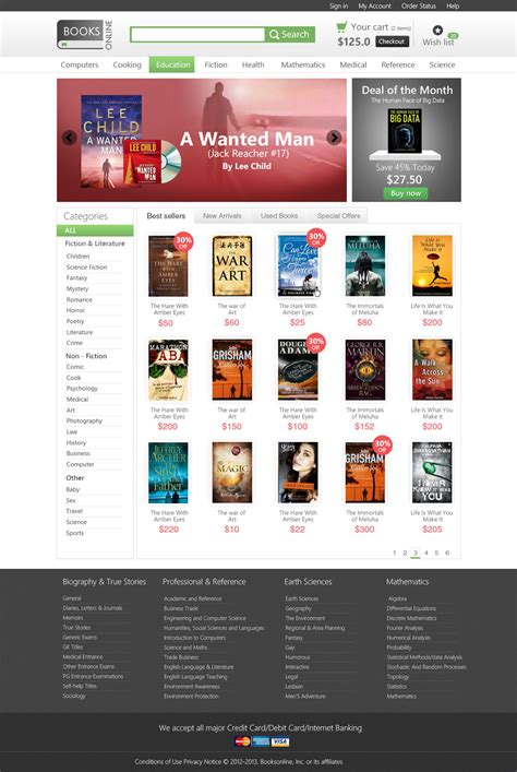 Latest Free Web Page Templates Psd 187 Css Author Bookstore Website Template