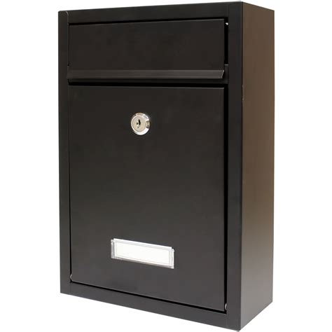 white wall mounted mailbox letter mailbox mail letter in mailbox large post box lockable postbox