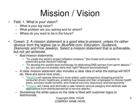 13 Exle Of Personal Vision Statement Paystub Format Business Vision Document Template