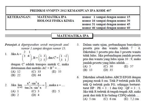 contoh soal sbmptn 2015 contoh soal prediksi matematika sbmptn tkd saintek soshum