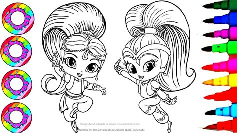 shimmer and shine l colouring drawings shimmer and shine sparkle rainbow color