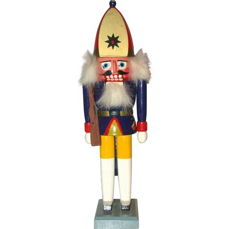 vintage erzgebirge wooden nutcracker of soldier germany
