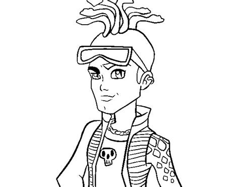 monster high coloring pages deuce monster high deuce gorgon coloring page coloringcrew com