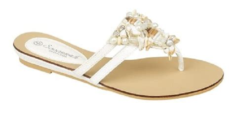 White Bridal Sandals Flat by Object Moved