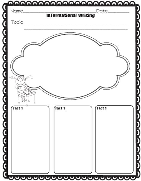 printable graphic organizer for informational writing the ultimate writing resource pack narrative