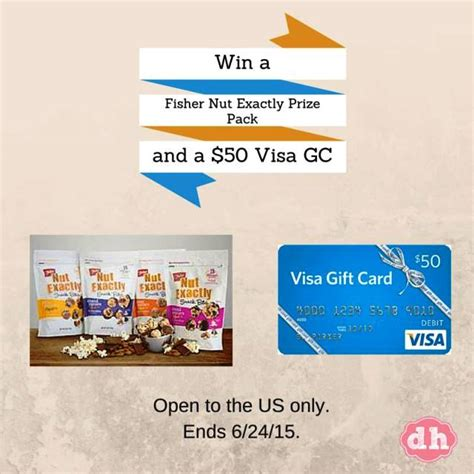 Fisher Nuts Giveaway - fisher nut exactly snack bites 50 visa gift card giveaway