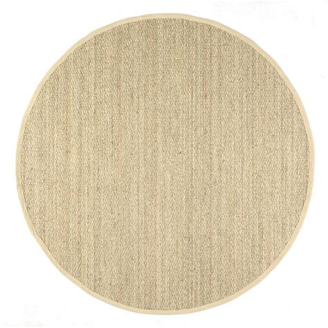 8 foot area rug nuloom elijah seagrass with border beige 8 ft x 8 ft area rug bhsg01a 808r the home depot