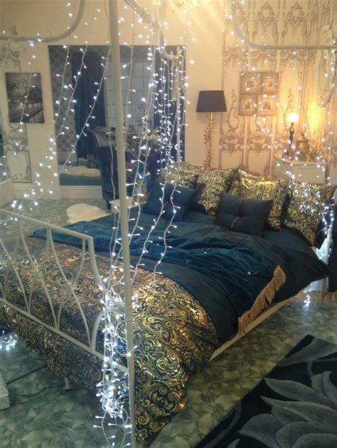 blue bedroom lights blue bedroom love the fairy lights bedroom decor