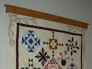 Wall Mounted Quilt Hanger by Richard T Hyers Woodworking Wall Mounted Quilt Hanger