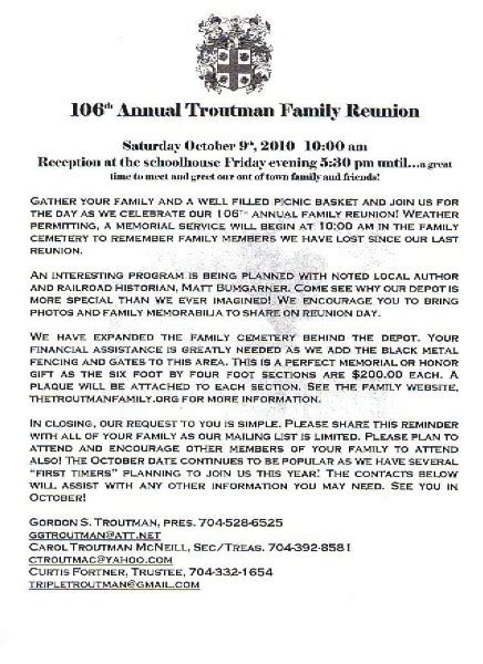 family reunion letter template free printable exle of family reunion program click here