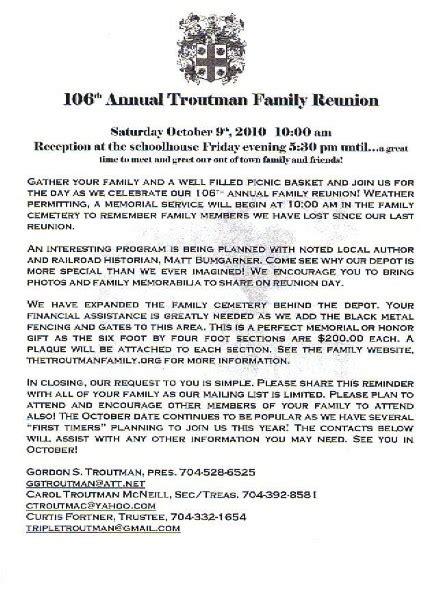 printable exle of family reunion program click here
