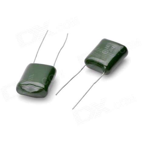 green polyester capacitor 334 0 33uf 250v polyester capacitor green 5 pcs free shipping dealextreme