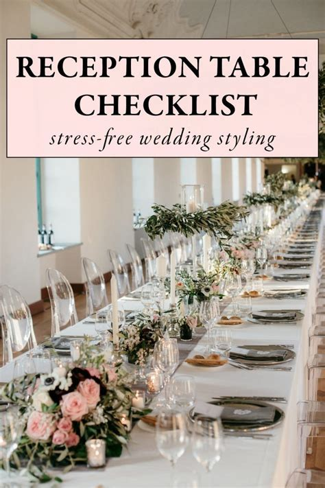 Use This Wedding Reception Table Checklist for Stress Free